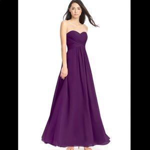 Azazie Yazmin dress in grape size A4